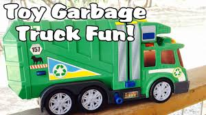 100 Toys R Us Trucks Garbage Truck Video Green Side Loader Toy Truck L