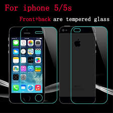 0 26mm 9H Front Back Tempered Glass For iPhone 5 5S Screen