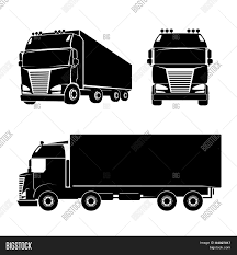 100 Icon Truck Silhouette Vector Photo Free Trial Bigstock