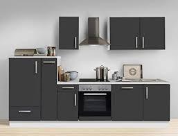 expendio küchenzeile unico 300 cm schiefer grau mit