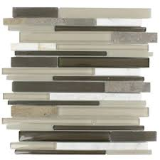 Glass Tile Nippers Home Depot Canada by Splashback Tile Mother Of Pearl Mini Brick Pattern 11 1 4 In X 12