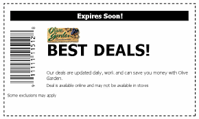 Olive Gardens NEW Coupon