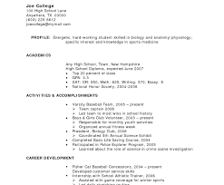 Resume Template For No Job Experience Principal Position Cover Letter Example College High School Sample Teenager Work