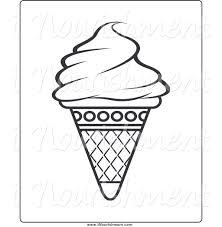 Cone clipart black and white 8