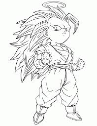 Fresh Free Coloring Pages Of Dragon Ball Z Not Color Science