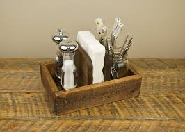 Rustic Napkin Holder And Condiment Caddy HomesteadTraditions