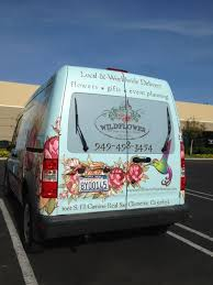 Van Wraps For Florists In San Clemente