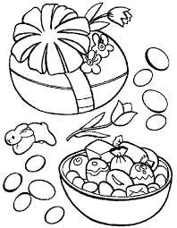 Easter Egg Candy Inside Coloring Pages