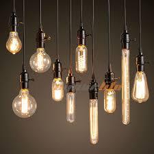 40w 60w filament light bulbs vintage retro industrial style edison