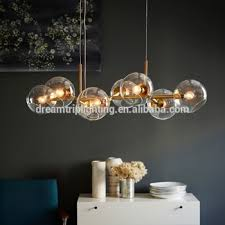 Post Modern Creative Personality Chandelier Minimalist Dining Room Glass Ball Lighting Lamp