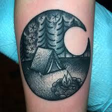 Camping Tattoo By Myself Jenn Small 510 Expert