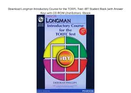 Download Longman Introductory Course For The TOEFL Test IBT Student Book With Answer Key
