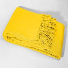 jet de canap jaune jeté de canapé à franges summer pas cher à prix auchan