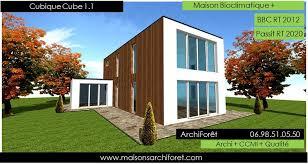 maison en cube moderne maison cubique cube ou carree en ossature bois par votre