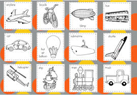 Transportation Coloring Page Quilt