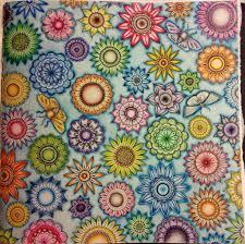 Crazy Flowers And A Few Butterflies From Secret Garden ColouringColoring BooksSecret