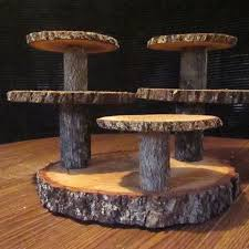 Multi Level Reclaimed Wood Rustic Cupcake Stand Wedding Cup Cake
