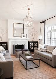 open concept living dining room with custom upholstered sofas
