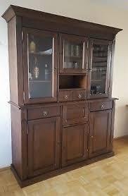 esszimmerschrank wohnzimmerschrank braun echtholz