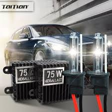 taitian 2pcs 75w hid xenon ballast 55w xenon light 12v 6000k h7