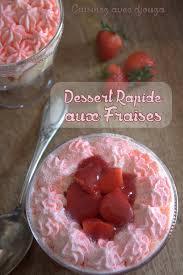 mascarpone recette dessert rapide dessert rapide aux fraises chantilly mascarpone recettes faciles