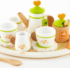amazon com hape tea for two wooden play kitchen accessory kit