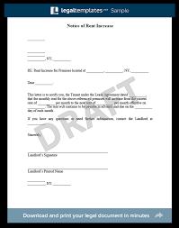 rental rate increase letter Savesa