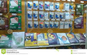 magasin de fournitures de bureau fournitures de bureau se vendant au magasin photo stock éditorial