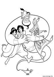 Coloriage Aladdin Jasmine Et Le Magicien JeColoriecom