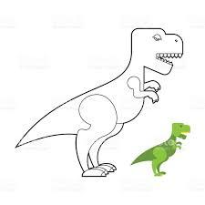 Nouveau Trex Dinosaur Livre De Coloriage Effrayant Big Coloriages
