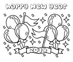 Printable Happy New Year 2014 Coloring Page