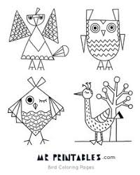 New Printable Bird Coloring Pages