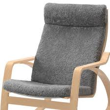 new ikea poang chair cushion only lockarp gray sheepskin brand new