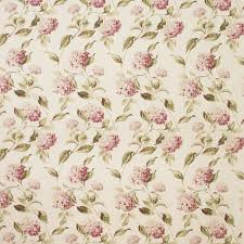 Curtain Fabric John Lewis by Laura Ashley Hydrangea Print Cotton Rich Curtain Fabric Pink