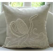 Decorative Couch Pillow Covers by Octopus Throw Pillow Covers 16x16 Inches Linen Pillow Cover