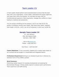 Warehouse Associate Resume Sample Fresh For Team Leader