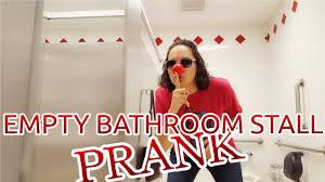red nose day prank empty bathroom stall vloggrrr youtube