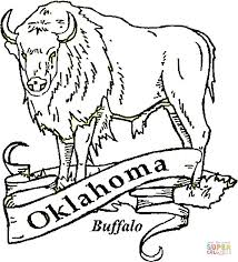 Click The Buffalo Oklahoma Coloring Pages To View Printable