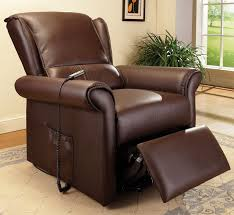 Emari Transitional Style Faux Leather Power Lift Recliner with