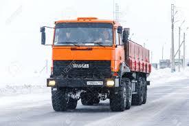 100 Service Truck NOVYY URENGOY RUSSIA FEBRUARY 2 2016 Orange Oil Field