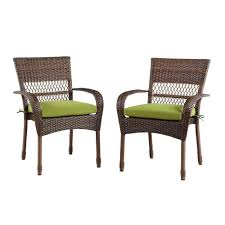Martha Living Patio Furniture Cushions by Martha Stewart Living Charlottetown Brown All Weather Wicker Patio