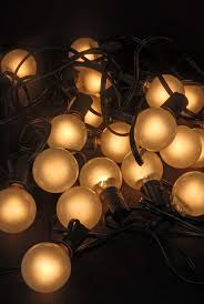 frosted globe string lights 28ft 25 bulbs event lighting
