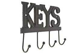 Decorative Key Holder For Wall by Key Holder U2013 Keys Wall Mounted Key Hook Rustic Western Cast