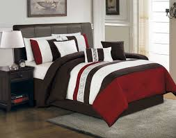 Brown And Blue Bedding by Adorable Red White And Brown Full Queen Bed Sets With Double Solid