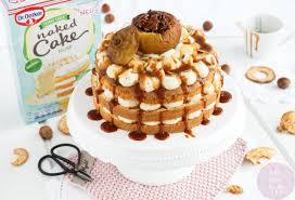 werbung herbstlicher sahne nuss cake mit bratapfel