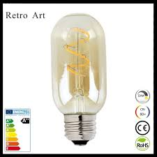 dimmable edison style soft led light bulb t45 4w spiral