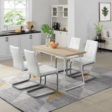 b d home esszimmer gruppe esstisch set mit 4 stuhl 120x60 eiche platzsparend cafe dinning table