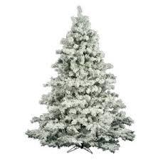 Vickerman Flocked Alaskan Unlit Christmas Tree
