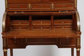 bureau acajou bureau a cylindre bonheur du jour louis xvi en acajou et placage d