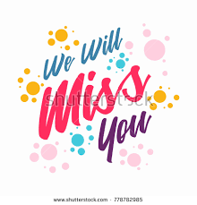 We Will Miss You Clipart